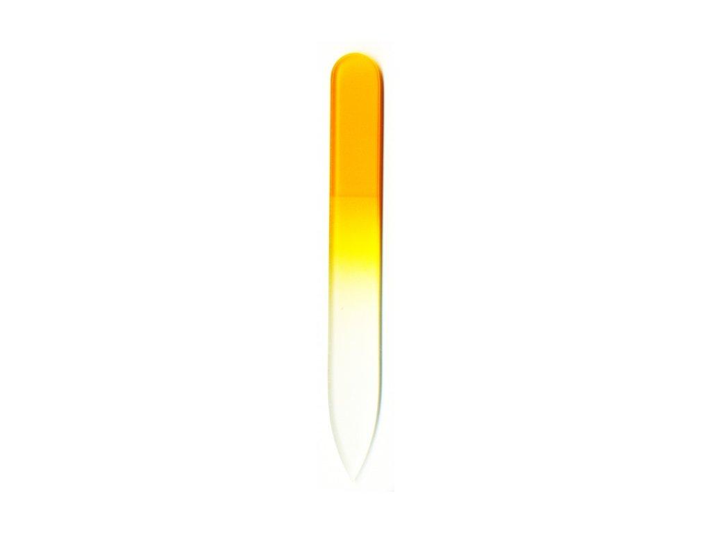 Skleněný pilník na nehty barevný 90 mm - Žloutková žlutá