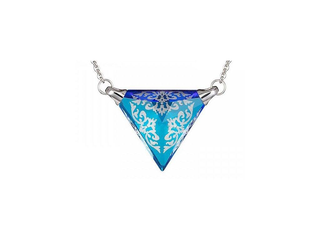 Náhrdelník z broušeného skla Crystal Lilly v modré barvě od firmy Preciosa