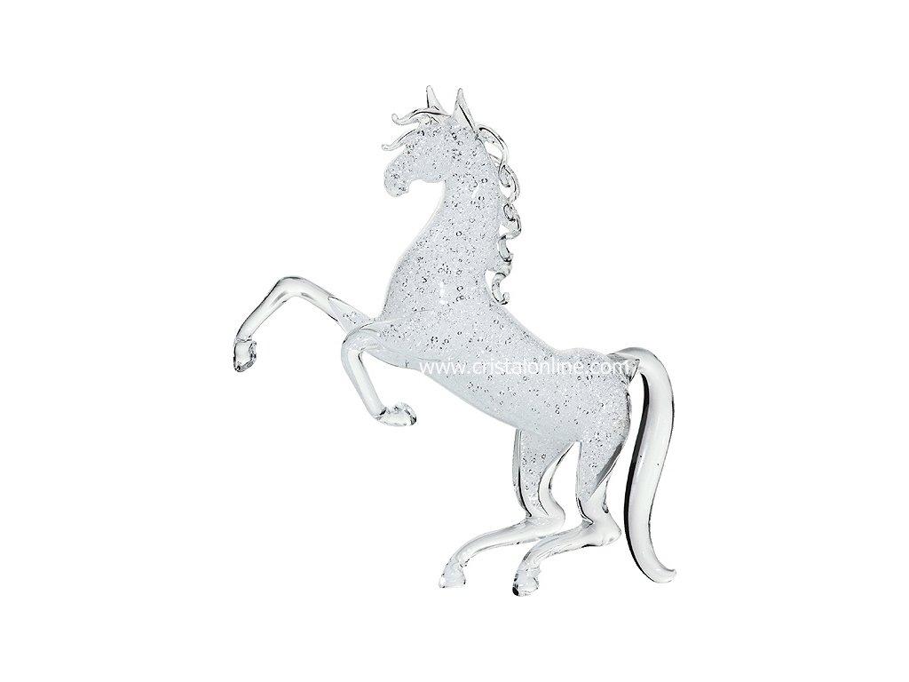 Skleněná figurka z českého skla - Andaluský kůň