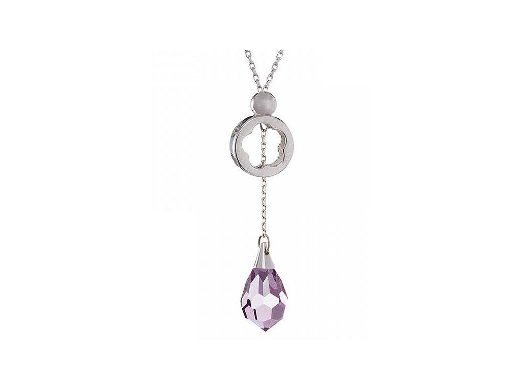 Stříbrný přívěsek Silky ve světle fialové barvě od firmy Preciosa
