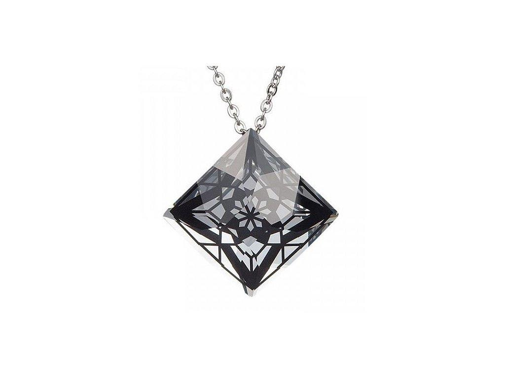 Přívěsek z broušeného skla Gwen v černé barvě od firmy Preciosa