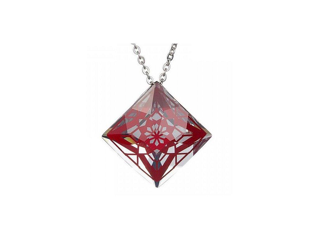 Přívěsek z broušeného skla Gwen v červené barvě od firmy Preciosa