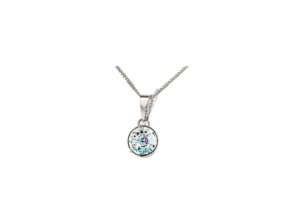 Stříbrný přívěsek z broušeného skla na stříbrném řetízku Sparkling Shine v barvě Crystal AB od firmy Preciosa