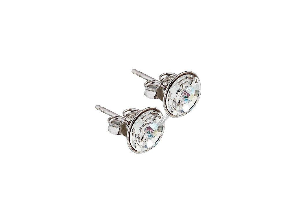 Náušnice z broušeného skla Sparkling Shine v barvě Crystal AB od firmy Preciosa