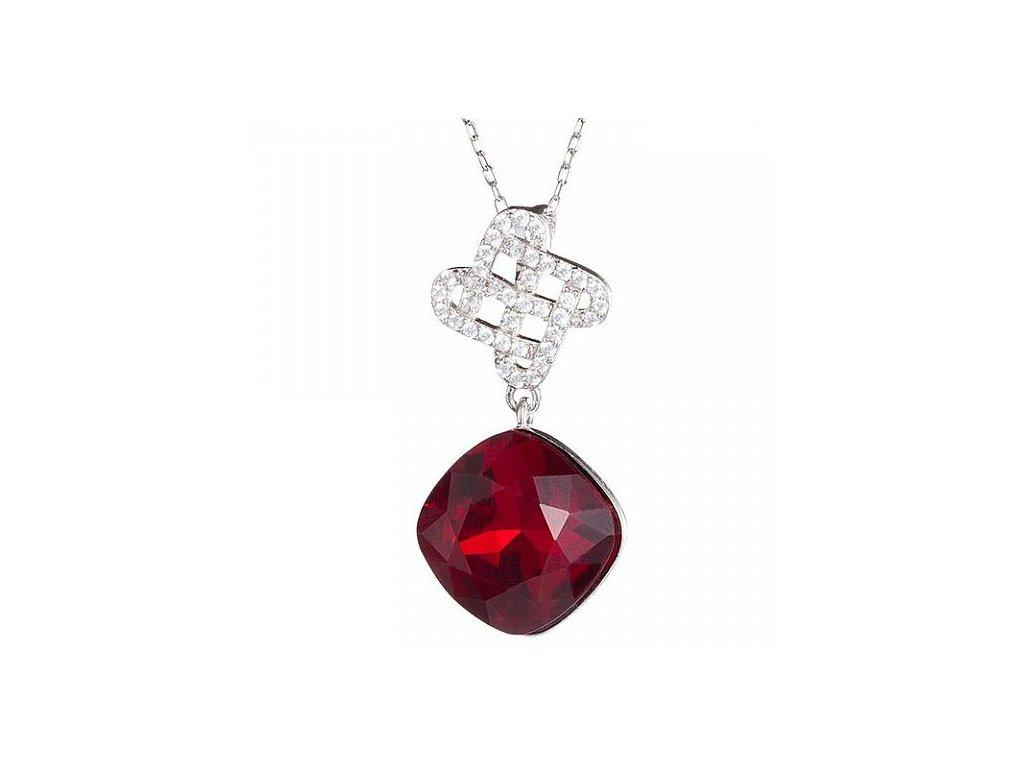 Stříbrný přívěsek Symbol of Happiness v červené barvě od firmy Preciosa