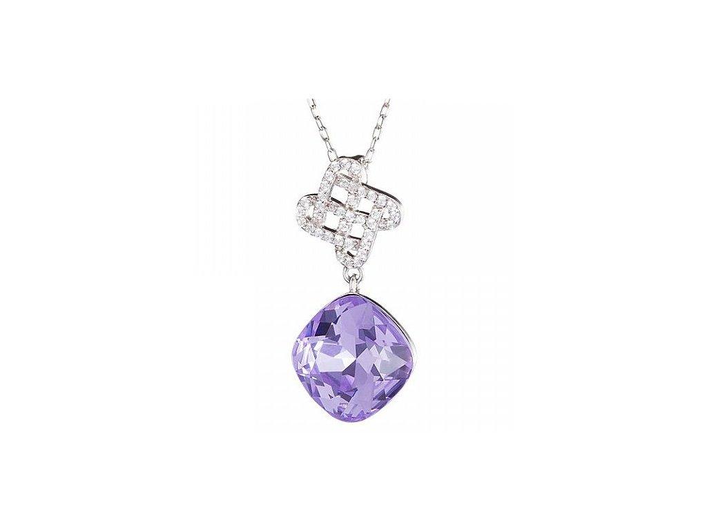 Stříbrný přívěsek Symbol of Happiness ve fialové barvě od firmy Preciosa