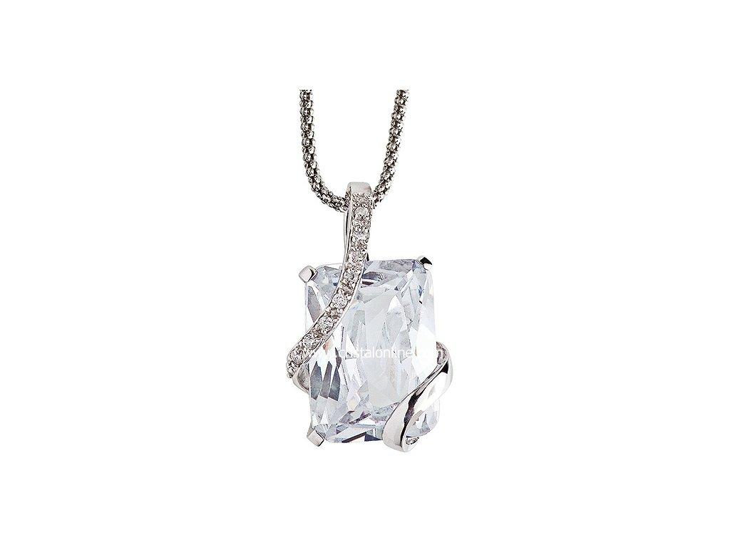 Přívěsek se zirkony na stříbrném řetízku Graceful v barvě čirého krystalu - 5028 00