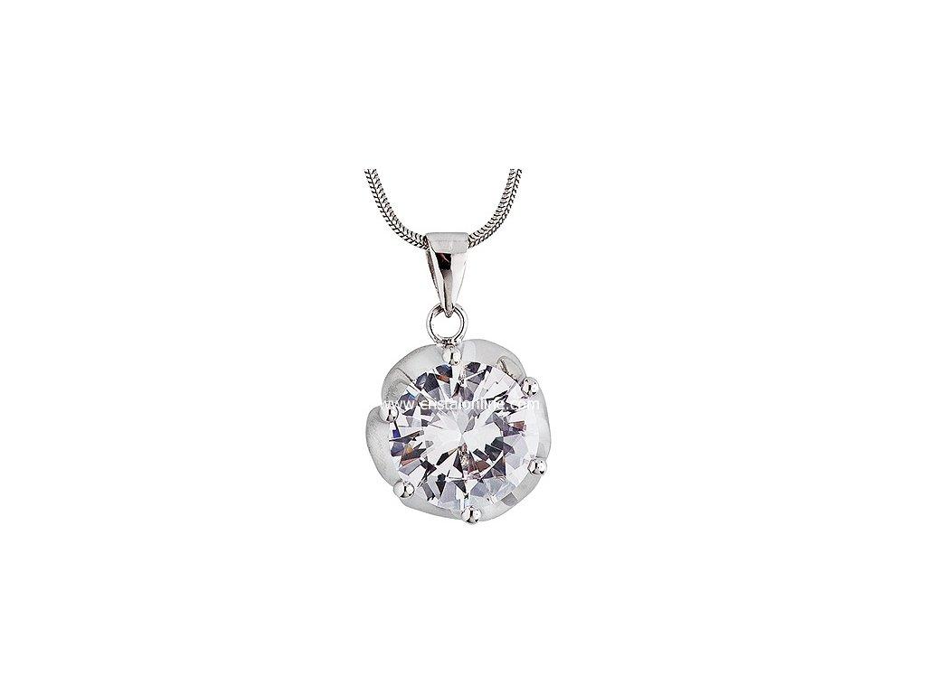 Přívěsek se zirkonem na stříbrném řetízku Charming v barvě čirého krystalu - 5020 00
