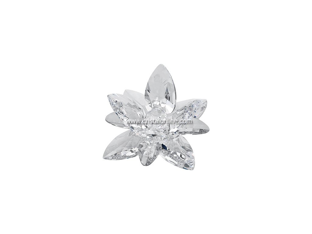 Broušená kytka - Leknín (čirý krystal)