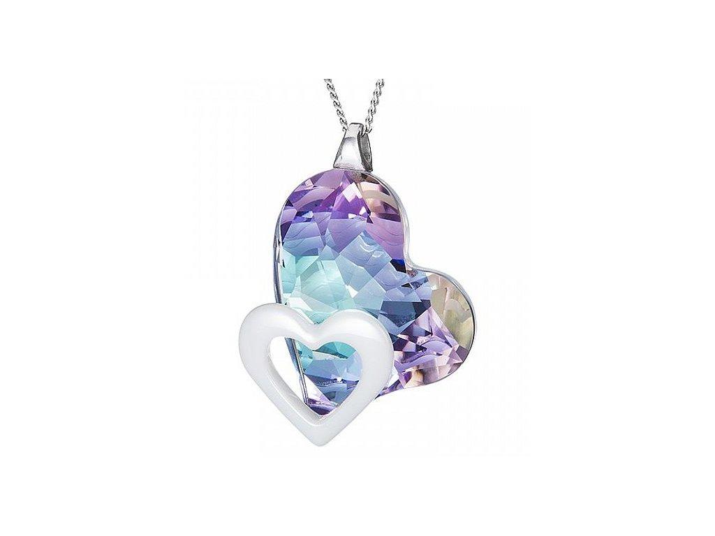 Stříbrný přívěsek Fidelity v odstínech duhy Crystal AB od firmy Preciosa