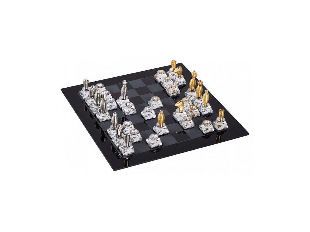 Královské šachy z českého křišťálu Preciosa 1390 70