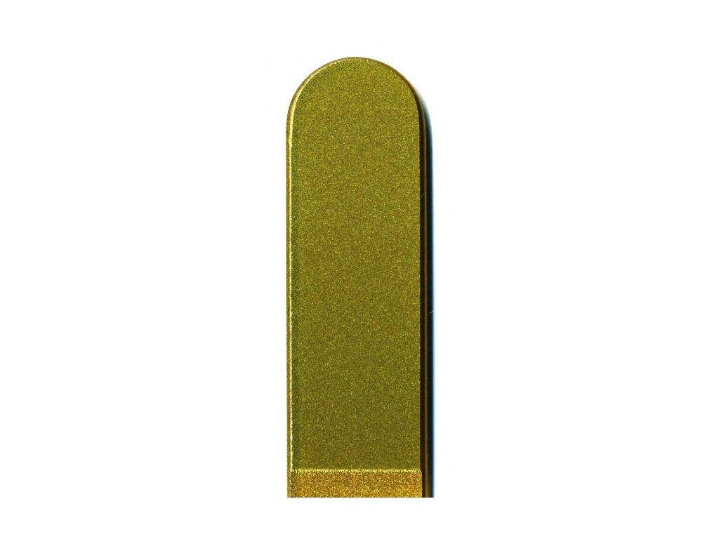 Skleněný pilník na nehty barevný profesionální manikúra - Zlatá