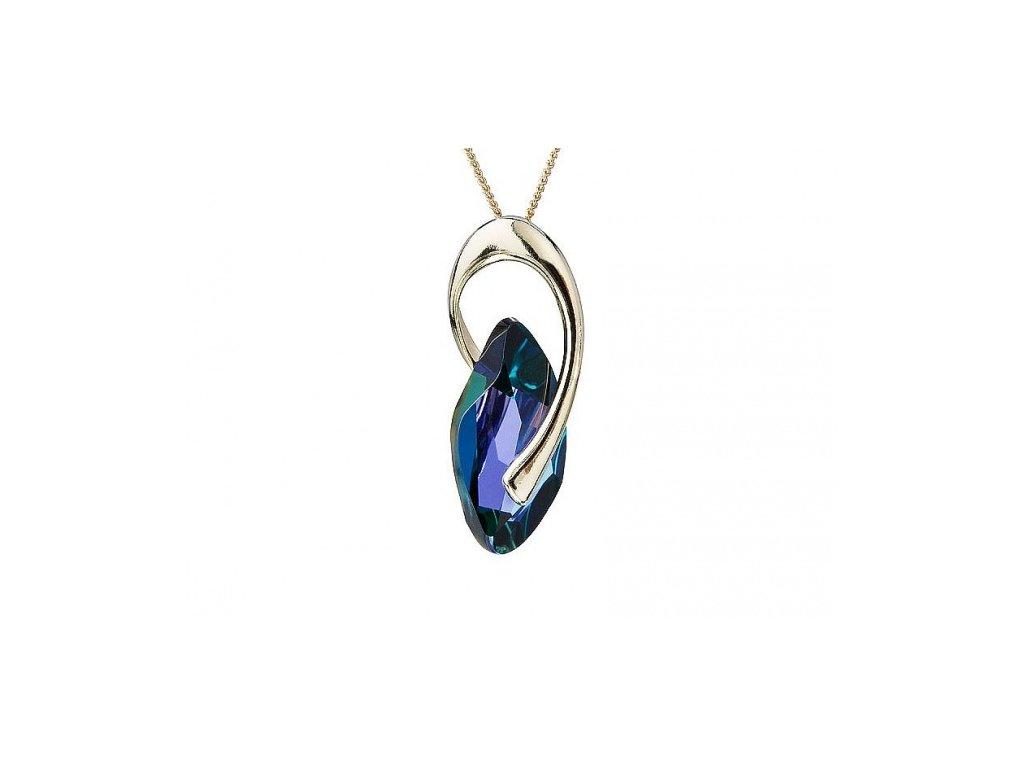 Přívěsek z broušeného skla Graceful Style v modré barvě od firmy Preciosa