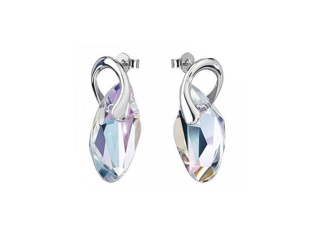 Náušnice z broušeného skla Graceful Style v barvě Vitrail Light od firmy Preciosa