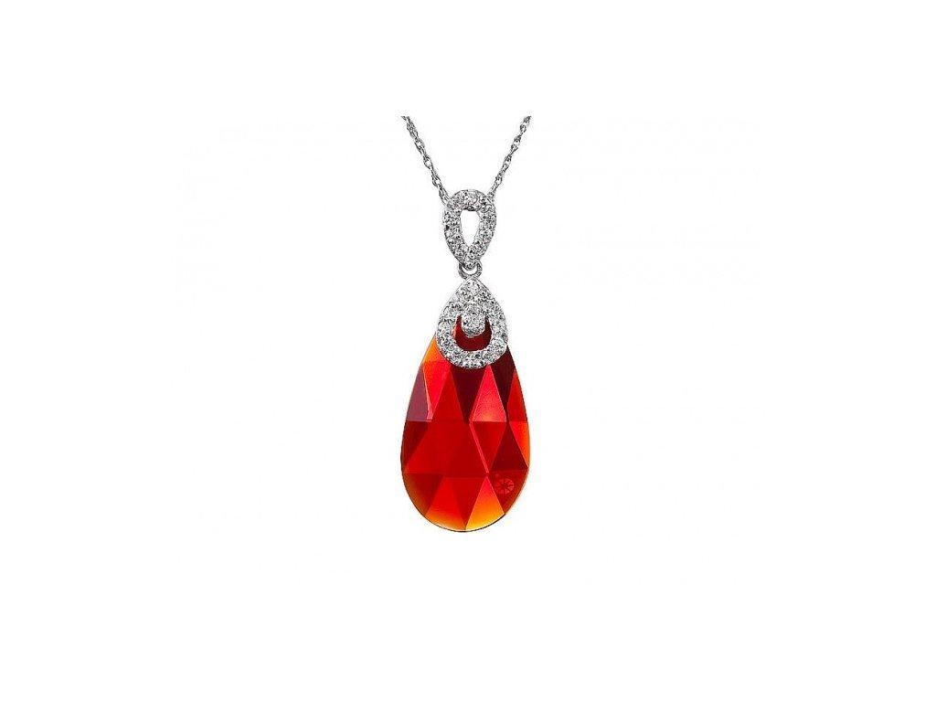 Přívěsek z broušeného skla Ruby Glow v červené barvě od firmy Preciosa