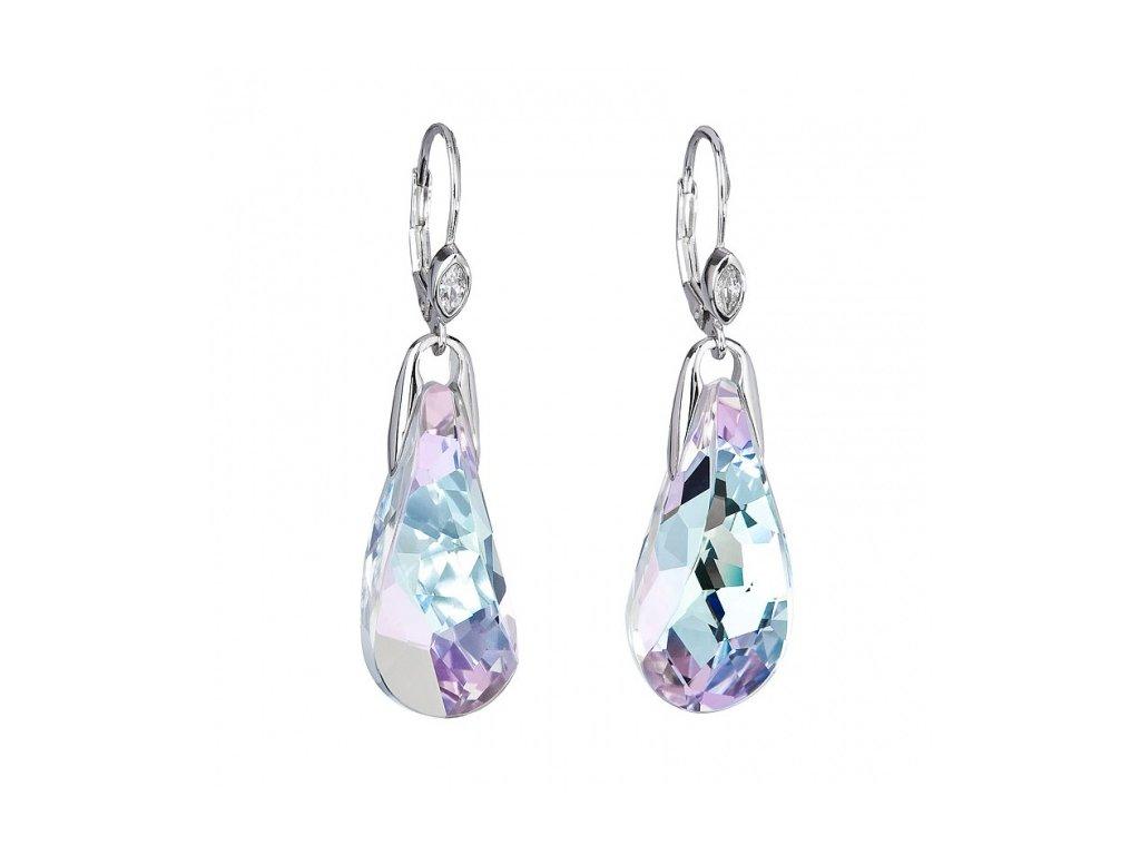 Náušnice z broušeného skla Crystal Beauty v barvě Vitrail Light od firmy Preciosa