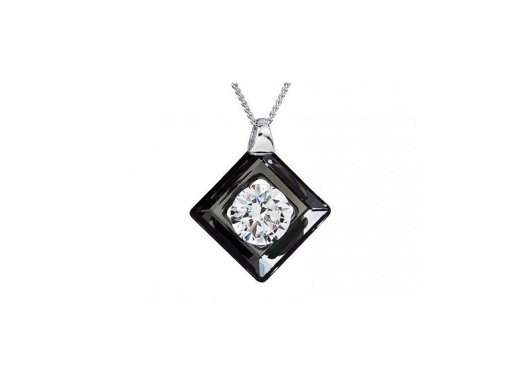 Přívěsek z broušeného skla Precious v černé barvě od firmy Preciosa
