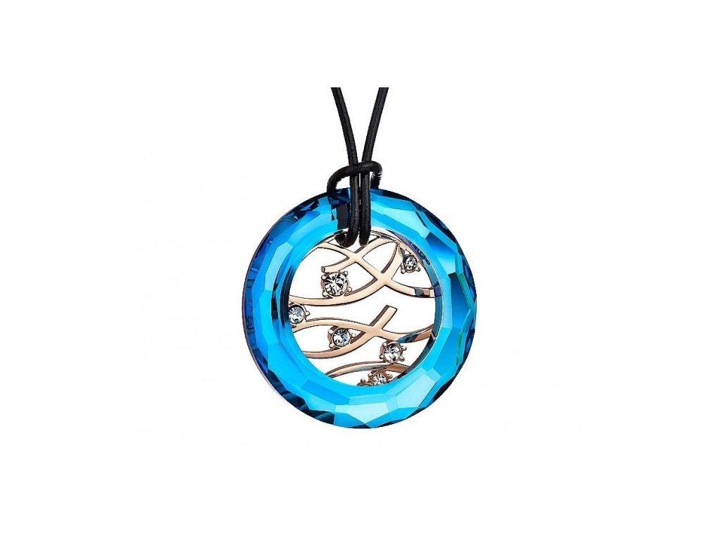 Přívěsek z broušeného skla Moment Magique v modré barvě od firmy Preciosa