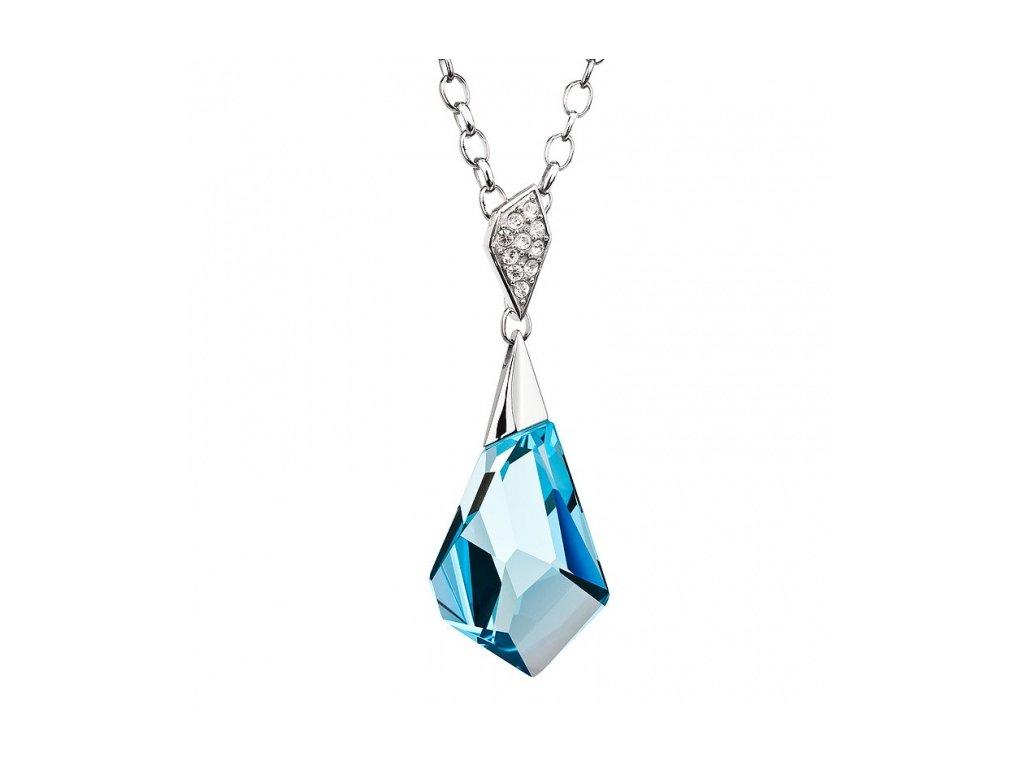 Přívěsek z broušeného skla Inspire v modré barvě od firmy Preciosa