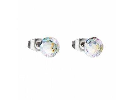 Náušnice z broušeného skla Ivy v barvě Crystal AB od firmy Preciosa