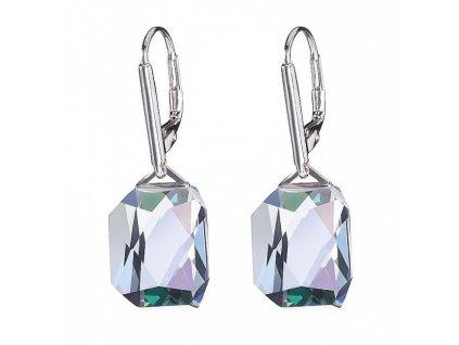 Náušnice z broušeného skla Luxe v křišťálové barvě od firmy Preciosa