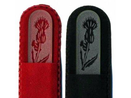 Skleněný pilník na nehty pískovaný 90 mm - Bodlák - ledový design