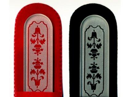 Skleněný pilník na nehty pískovaný profesionální manikúra - Art Noveau 2 - ledový design