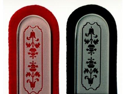 Skleněný pilník na nehty pískovaný pedikúra - Art Noveau 2 - ledový design