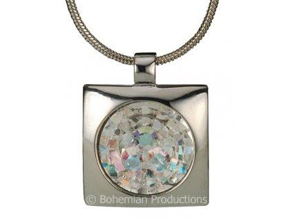 Přívěsek z broušeného skla Livia Elegant v odstínech duhy Crystal AB od firmy Preciosa
