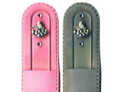 Skleněný pilník na nehty 135 mm se stříbrnou miniaturou Ag 925 a Swarovski - Anděl