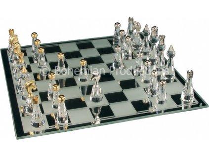 Skleněné šachy z broušeného křišťálu - Velké