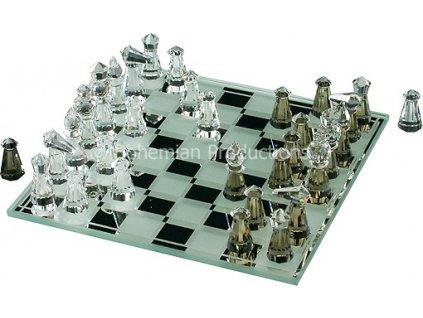 Skleněné šachy z broušeného křišťálu - Malé 0890 00