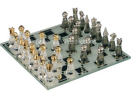 Skleněné šachy z broušeného křišťálu - Malé 0823 00
