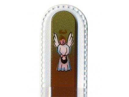 Skleněný pilník 135 mm s vánočním motivem - Anděl