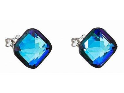 Náušnice z broušeného skla Elli v modré barvě od firmy Preciosa