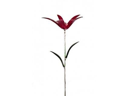 Skleněná kytka - Rudá tanečnice
