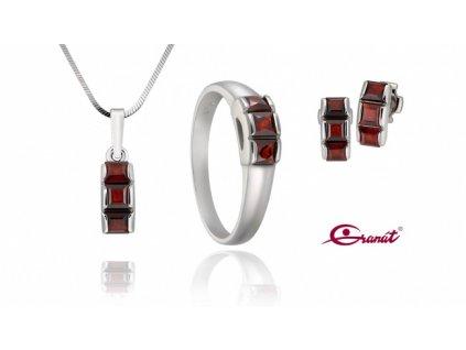Český granát  Luxusní souprava šperků 6