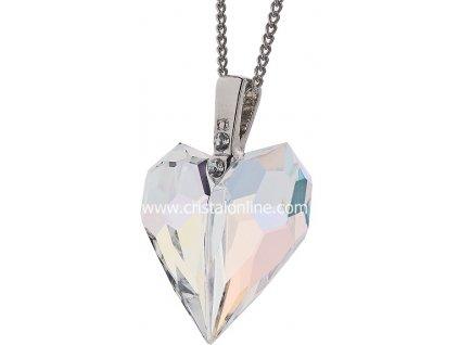 Přívěsek z broušeného skla Amour v barvě duhy Crystal AB od firmy Preciosa
