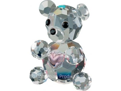 Skleněná figurka z broušeného křišťálu Sklo Bohemia - Mini medvídek