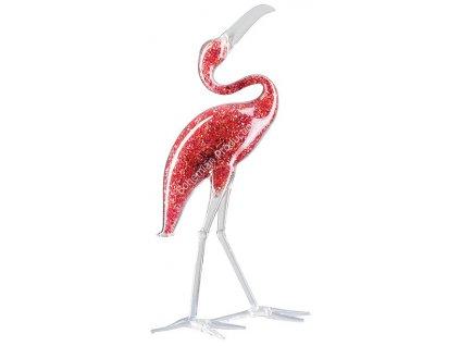 Skleněná figurka z českého skla - Ibis rudý