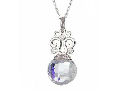 Stříbrný přívěsek Romantic Gem v odstínech duhy Crystal AB od firmy Preciosa
