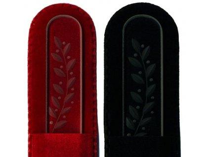 Skleněný pilník na nehty ručně rytý 135 mm - Květina  03