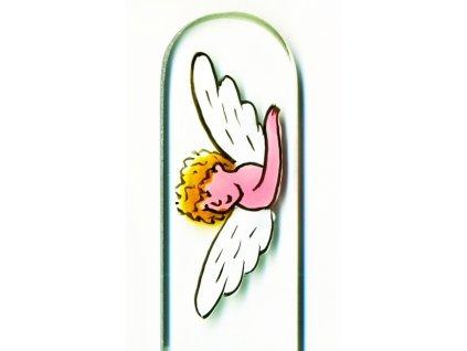 Skleněný pilník na nehty ručně malovaný pedikúra - Anděl se zlatými vlásky