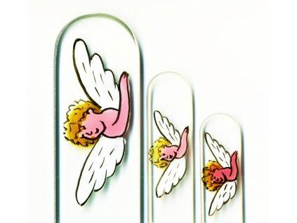 Skleněné pilníky na nehty ručně malované 90, 135 mm a pedikúra – Anděl se zlatými vlásky