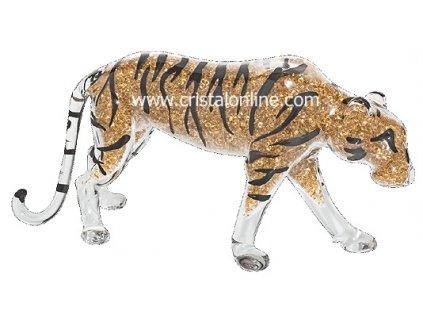 Skleněná figurka z českého skla - Tygr bengálský