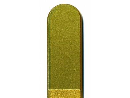 Skleněný pilník na nehty barevný pedikúra - Zlatá