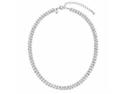 Štrasový náhrdelník Jillianne v křišťálové barvě od firmy Preciosa
