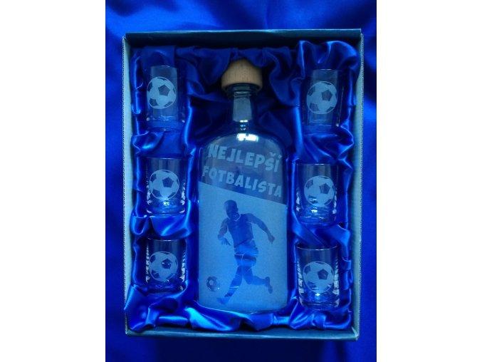 Pískovaná láhev FOTBAL 2