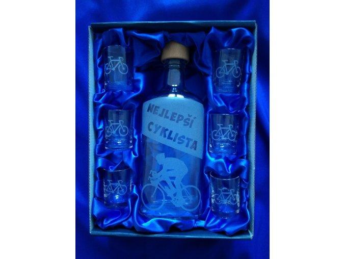 Pískovaná láhev CYKLISTA 2