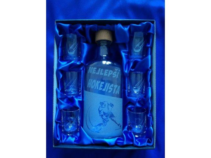 Pískovaná láhev HOKEJISTA 2
